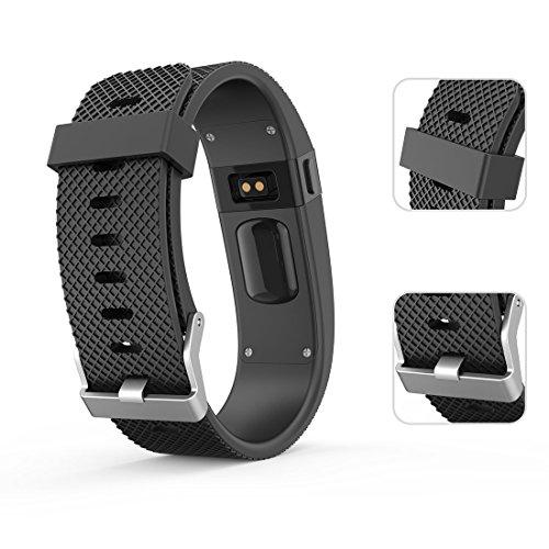 Tosenpo - Correa de repuesto para pulsera inteligente Fitbit Charge HR, color Black-L: Amazon.es: Deportes y aire libre