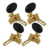 Generic Gold-Plated 2R2L Tuning Peg Machine Head Tuners For Ukulele 4 String Guitar