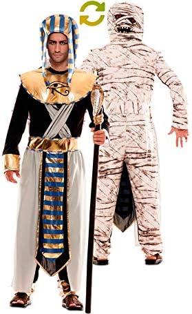 EUROCARNAVALES Disfraz Doble de Faraón Egipcio y Momia para Hombre ...