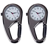 Set of 2pcs Unisex Metal Clip On / Fob / Pocket Watches With Carabineer For Workout / Outdoor Sports