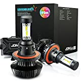 JDM ASTAR 8th Generation 7000 Lumens Extremely Bright ZES Chips H13 9008 LED Headlight Bulbs Conversion Kit, Xenon White