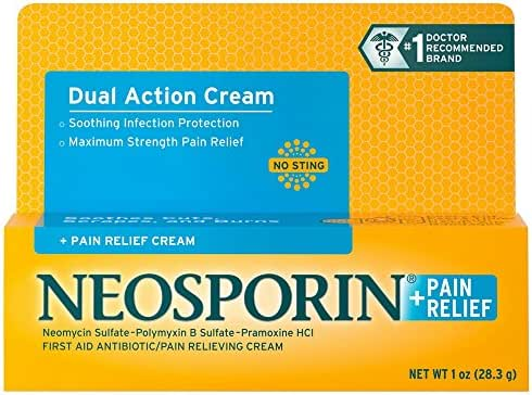 Neosporin + Pain Relief Dual Action Cream, 1 Oz