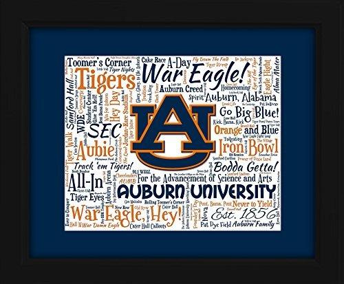 Auburn University 16x20 Art Piece - Beautifully matted and framed behind - Go Glass Cambridge
