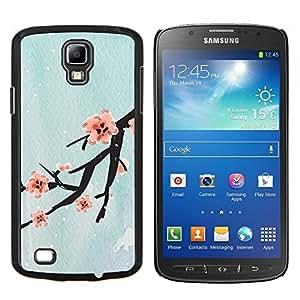 TECHCASE---Cubierta de la caja de protección para la piel dura ** Samsung Galaxy S4 Active i9295 ** --Diseño Flor de cerezo