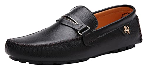 CFP 3237 Mens Sneakers Style Casual Slip-on Moccasins Driving Loafers Black  UK Size 5.5