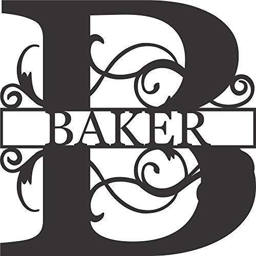 (AJD Designs Personalized Last Name B Door Hanger - 20