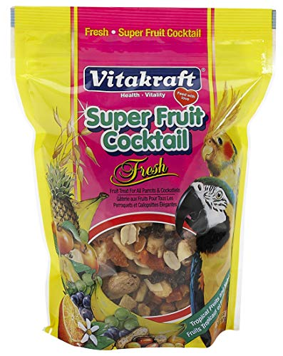 Vitakraft Super Fruit Cocktail Treat For All Parrots & Cockatiels, 20 Ounce Pouch -