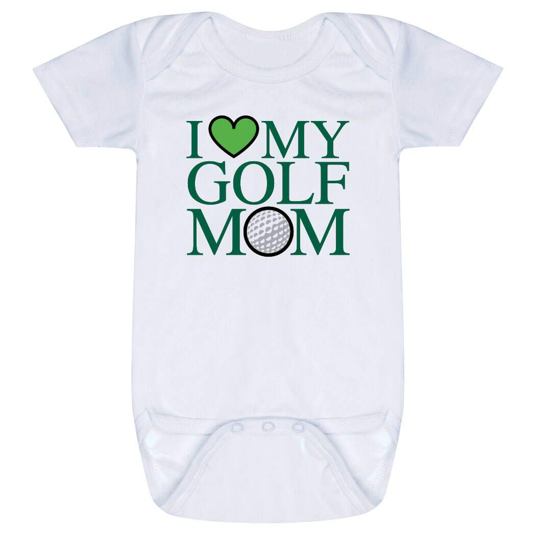 89e47e068 Amazon.com: Golf Baby & Infant Onesie | I Love My Golf Mom | Green | One  Piece Newborn: Clothing