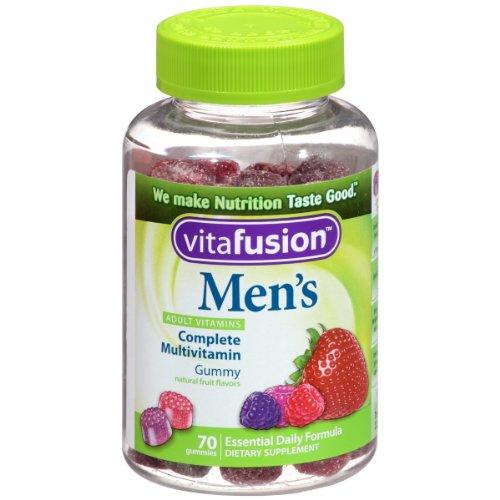 De Vitafusion hommes Gummy vitamines, 70 comte