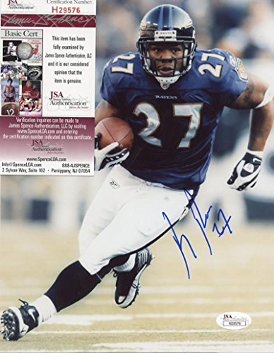 (RAY RICE BALTIMORE RAVENS SIGNED AUTOGRAPHED 8X10 PHOTO JSA H29576)