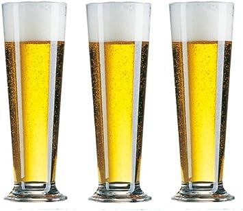 Arcoroc - 6 cerveza tulipanes cerveza cerveza copa cerveza cervecería cristal vidrios berlín 0.2 calibran 29 cl.