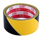 uxcell32.8Ft 10 Meters Black Yellow Floor Adhesive Hazard Warning Caution Safety Stripe Tape
