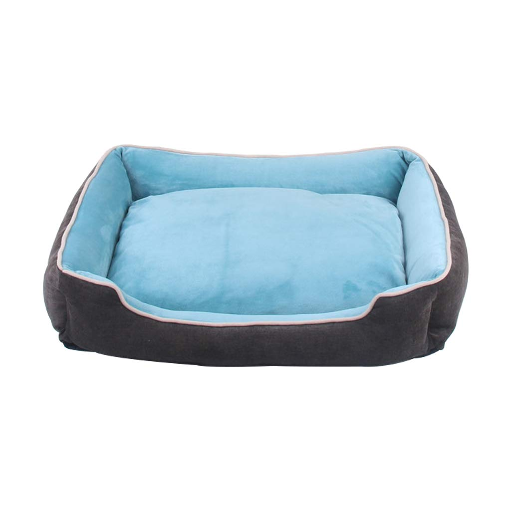 Cyan S Cyan S PLDDY pet Bed Super Soft Fabric Pet Bed, Cat and Dog, Short Plush Fabric, All Removable and Washable, Suitable for Large, Medium and Small Pets (color   Cyan, Size   S)