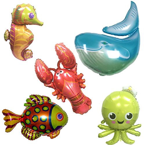 (Ovee Lando Ocean Animals Octopus Whale Seahorse Fish Lobster Set of)