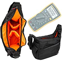 Nylon Rucksack With Adjustable Interior & Rain Cover for Fluke 115 Compact True-RMS Digital Multimeter,Fluke 116 HVAC Multimeter and Fluke 117 Electricians True RMS Multimeter-by DURAGADGET