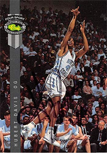 (Hubert Davis autographed Basketball Card (North Carolina Tar Heels) 1992 Classic Four Sport Draft Rookie #19)