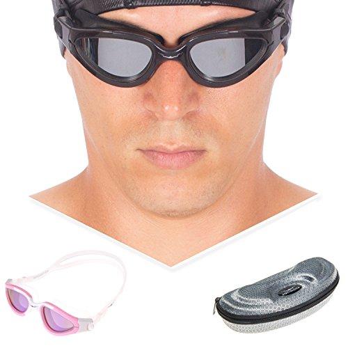 Swimming Goggles Snorkel Mask with Anti-fog Silicone Set (Orange) - 5