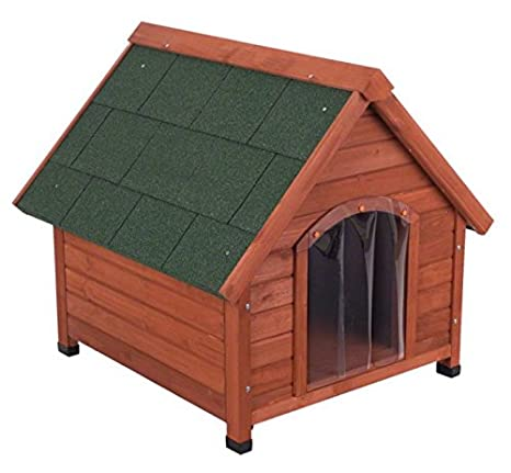 4 Seasons de madera de pino – Caseta de perro ideal para perros que vivir fuera