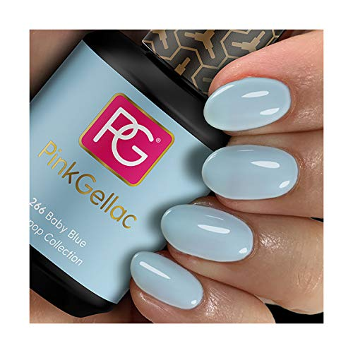 Pink Gellac Shellac Gel Nagellack 15 ml für UV LED Lampe | 266 Baby Blue Blau | Gel Nail Polish for UV Nail Lamp | LED Nagel Lack Gellack Nagelgel