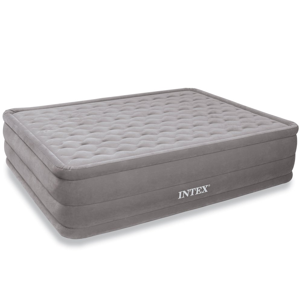 Intex Ultra Plush Airbed with Built-in Electric Pump, Queen