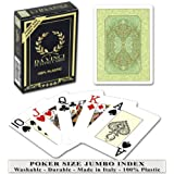 Da Vinci Persiano Italian 100% Plastic Playing Cards, Poker Size Jumpo Index