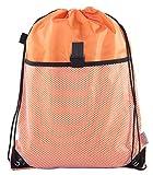 Drawstring Cinch Bag Backpack With Mesh Pocket, Wholesale Drawstring Backpacks