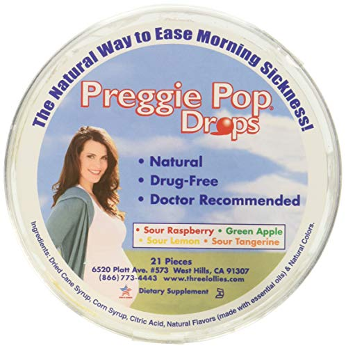 Preggie Pop Drops (Container) Assorted for Morning Sickness Relief, PACK OF 2 (Best Excuses To Call In Sick)