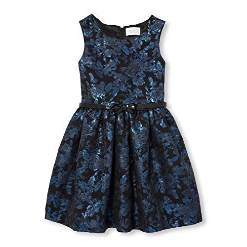 The Children's Place Big Girls Special Occasion Dress, Blue, -