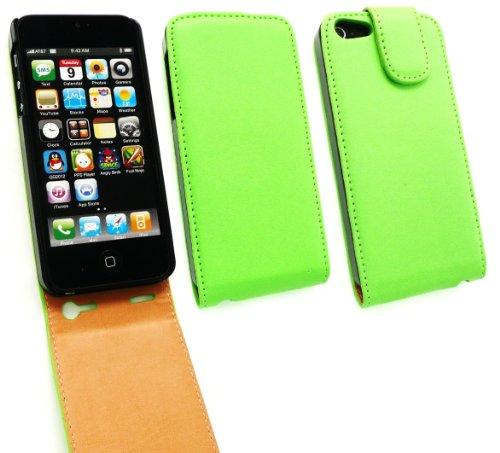 Emartbuy ® Apple Iphone 5 5s Lusso Pu Leather Flip Case / Custodia Verde / Marrone