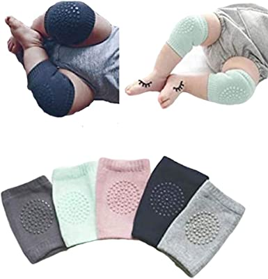 Baby Kneepad Protector Socks Thick Terry Non-slip Crawling Rubber Socks Sports Socks