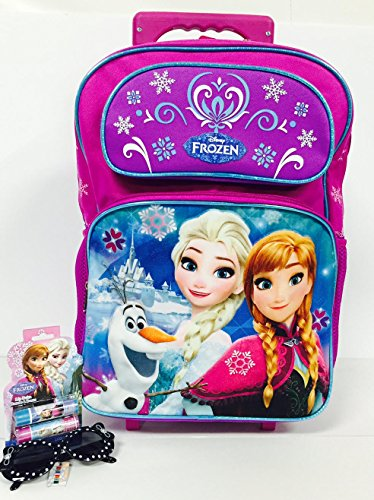 Frozen Snowflakes Large Rolling Backpack