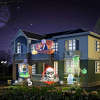 Led Christmas Light Projector - Newest Version Bright Led Landscape Spotlight with 16 Slides Dynamic Lighting Landscape Led Projector Light Show for Halloween, Party, Holiday Decoration