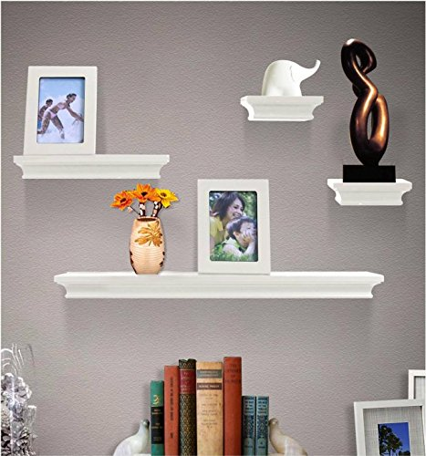Shelving Solution 6 Pieces Wall Shelf Set (White)
