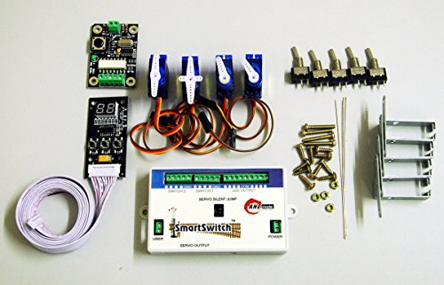 Model railroad turnout and switch controller using rc servos - Stationary DCC/DC Controller/Decoder for SmartSwitch PECO A003