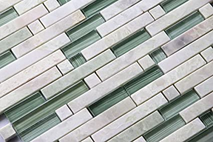 Awe Inspiring Marble Grass Gd01 Mint Green Polished Stone Glass Blend Backsplash Tiles For Kitchen Bathroom Mosaic Design Wall Sample Home Interior And Landscaping Ologienasavecom