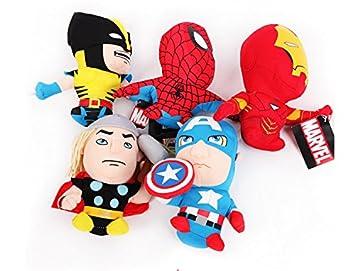 Amazon.com: Mejor venta. 5pcs Spider-Man Iron Man, Capitán ...