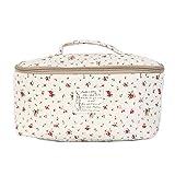 Portable Travel Underwear Linen Bag Organizer Pouch Flower Red