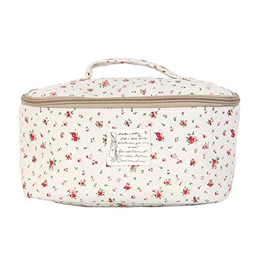 Portable Travel Underwear Linen Bag Organizer Pouch Flower Red by jnjstella