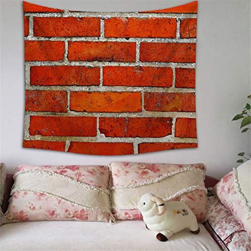 BOOBODA Retro Brick Print Home Tapestry Wall Hanging Wallpaper for Livingroom Hang Cloth Background(Stytle F)