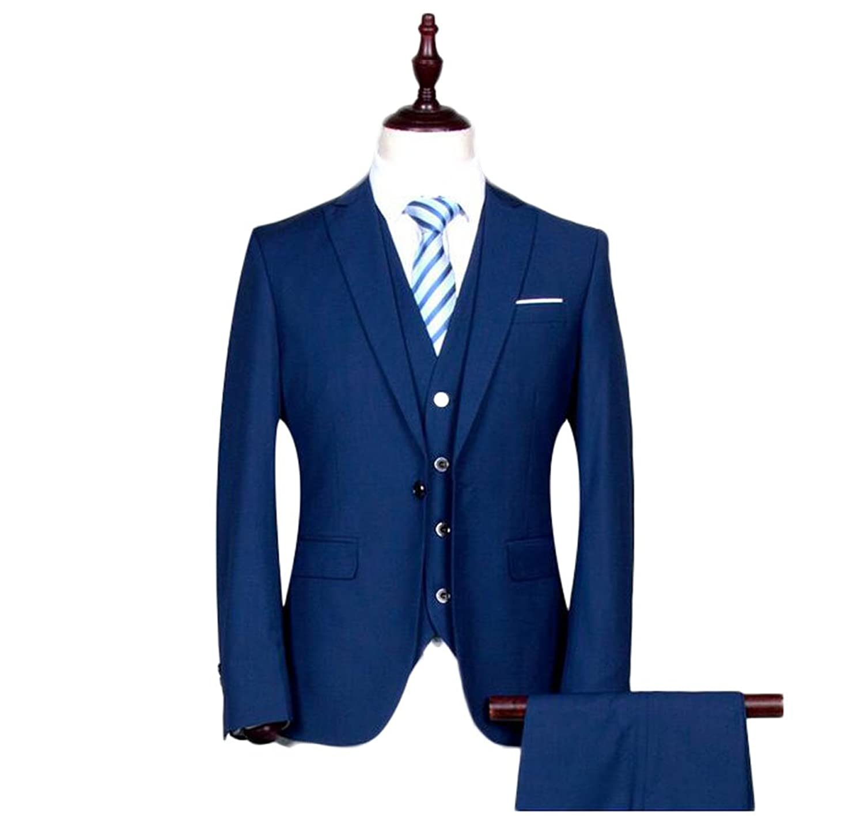 Louis Raphael Mens Modern Fit 2 Button Side Vent Flat Front Micro Pin Dot Suit