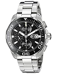 TAG Heuer Men's CAY211A.BA0927 Aquaracer Analog Display Swiss Automatic Silver Watch