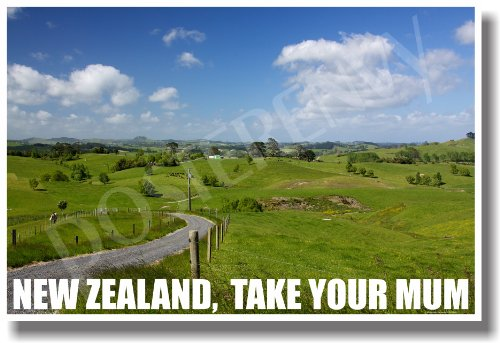 New Zealand - Take Your Mum - NEW World Travel Poster (Your The Best Mum)