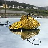 Waltz&F Japanese Cast Iron Wind Chime Temple Pendant Goldfish Design Yellow