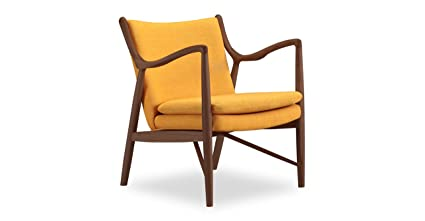 Kardiel Copenhagen 45 Mid Century Modern Arm Chair, Citrine Twill/Walnut