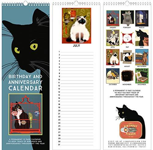 (Linnea Design Cat Birthday & Anniversary Perpetual Calendar)