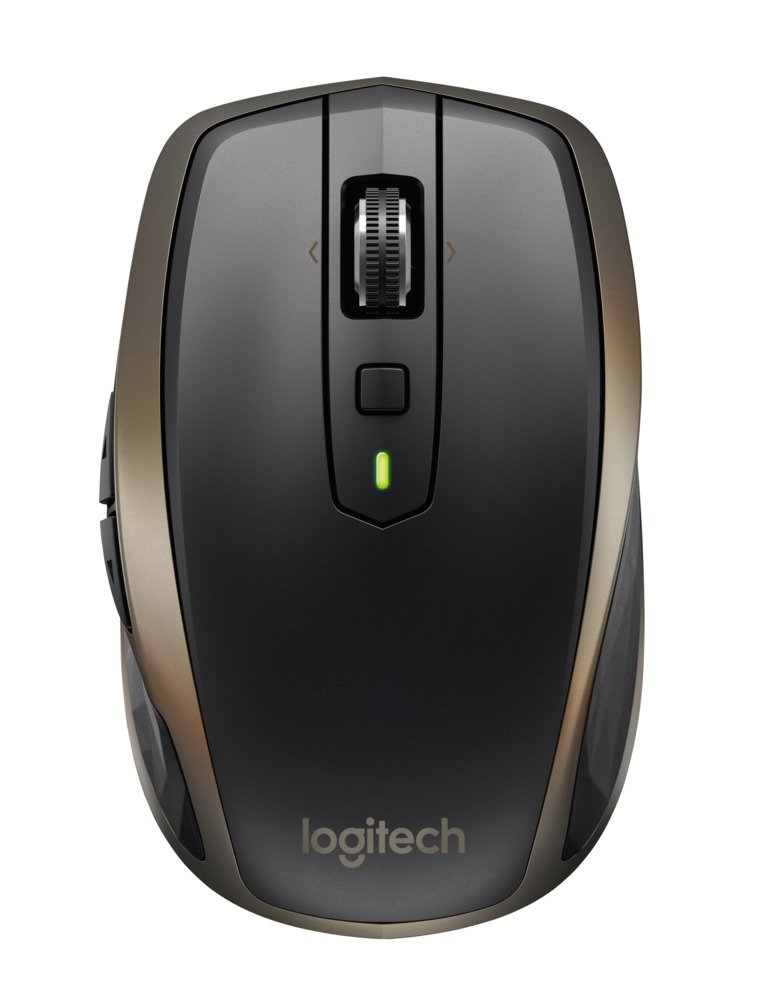 Logitech MX Anywhere 2 Mouse Wireless per Windows e Mac con Bluetooth e Unifying, Versione per Amazon, Nero