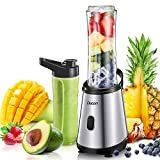 Mini Personal Blender for Shakes and Smoothies Chopper with Blender Cup, Smoothie Blender Single Serve, 2 BPA-Free 20 oz Travel Portable Bottle for Juice, Milkshake and Smoothie, 300W/24,000RMP For Sale