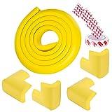 Corner Guards Edge Bumpers Child Safety Anti-Collision Furniture Table Protector Auto Pretected Stripe (Yellow)