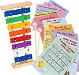 Xylophone Instrument for Kids - Tuned Musical Toy Glockenspiel for Children with 23 Songs Sheet Music