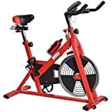 Soozier Upright Stationary Exercise Cycling Bike with LCD Monitor